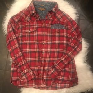 Jachs girlfriend plaid button down long sleeve